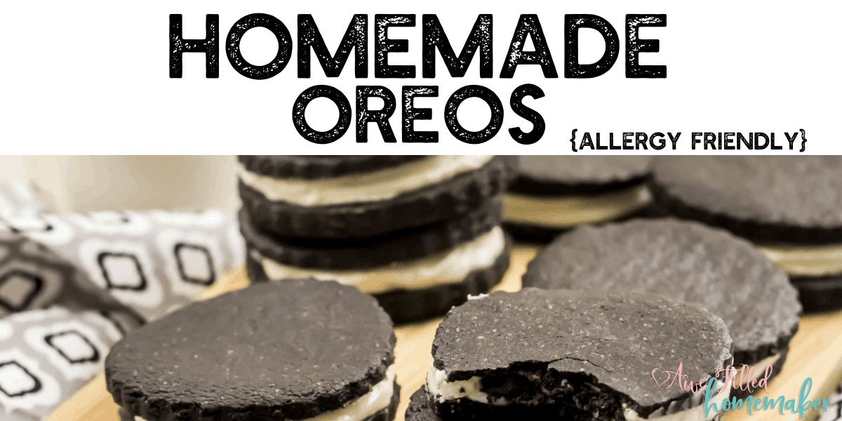 Homemade Oreos Cookies {Allergy Friendly}