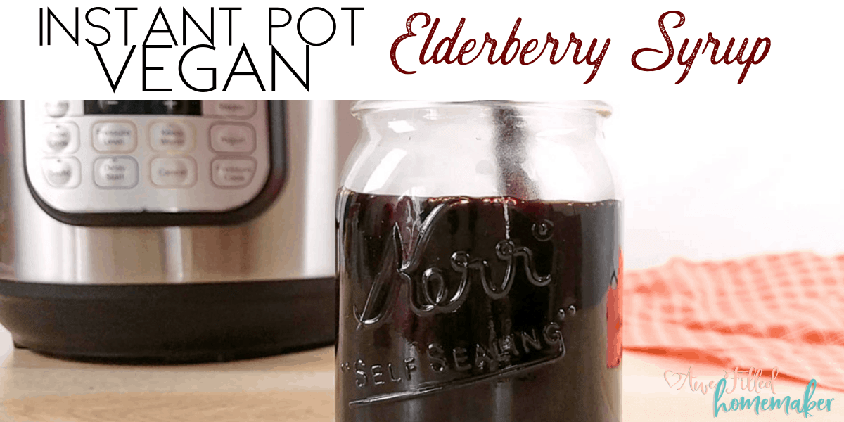 Vegan Instant Pot Elderberry Syrup
