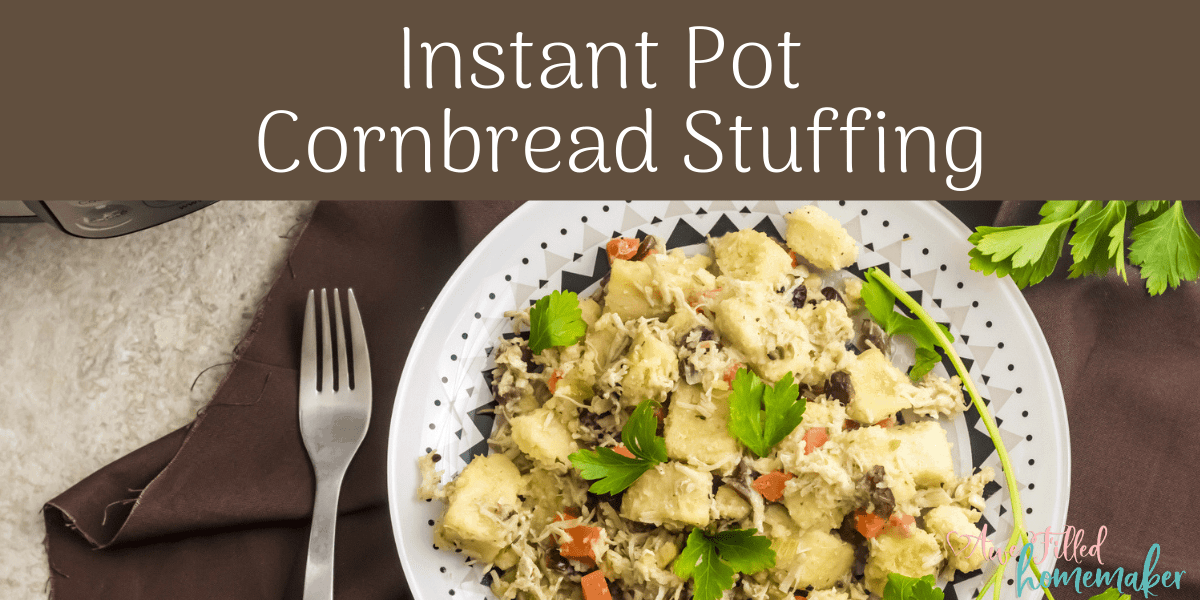Instant Pot Cornbread Stuffing {Allergy Friendly}