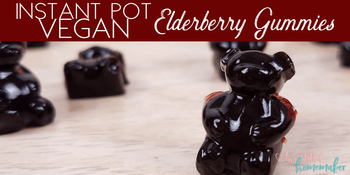 Vegan Instant Pot Elderberry Gummies