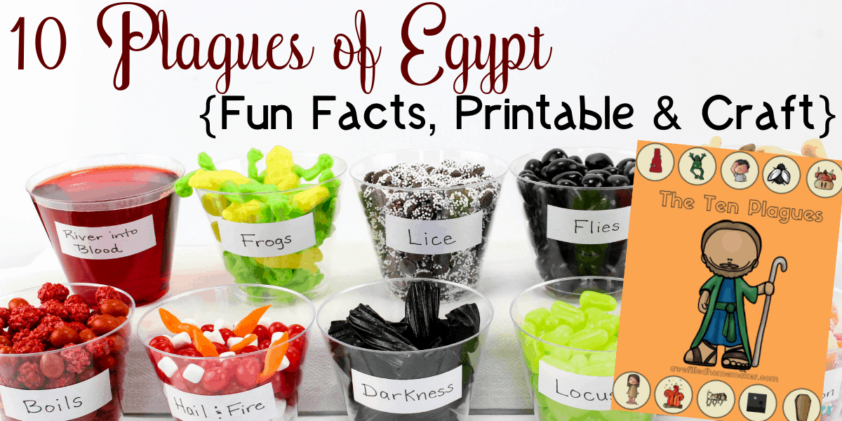 10 Plagues of Egypt {Fun Facts, Printable & Craft}