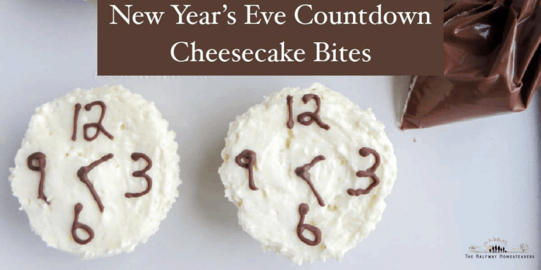 New Years Eve Countdown Cheesecake Bites!
