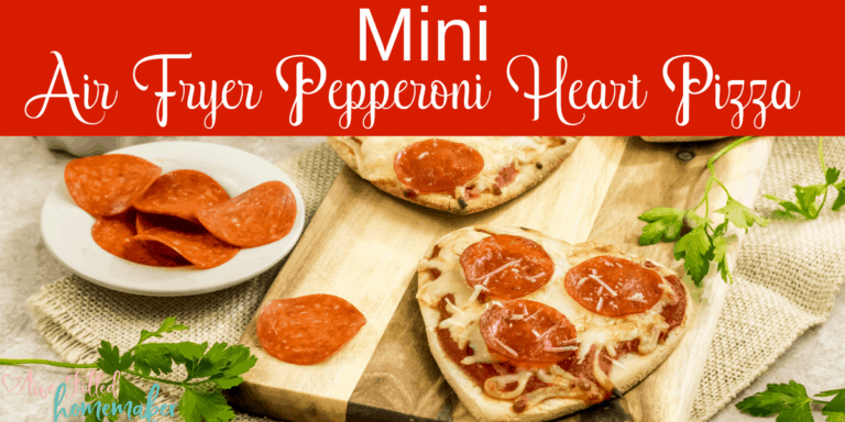 Mini Air Fryer Pepperoni Heart Pizza