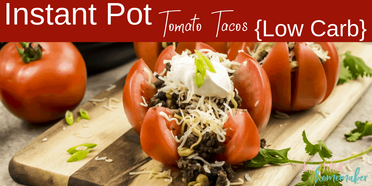 Instant Pot Tomato Tacos {Low Carb}