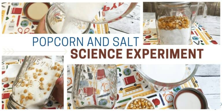 Popcorn and Salt Science Experiment