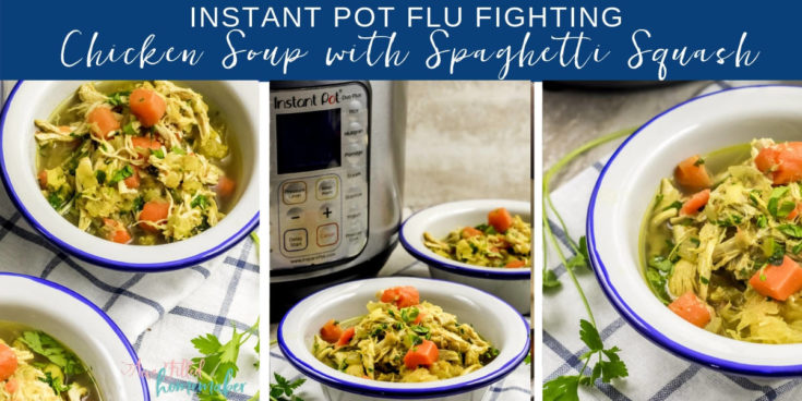 Instant Pot Flu Fighting Chicken Soup with Spaghetti Squash