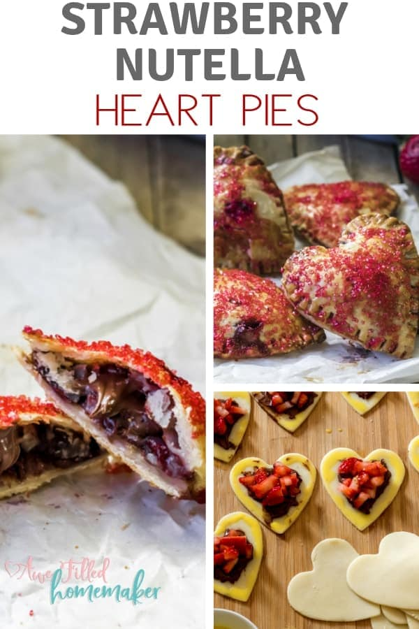 Strawberry Nutella Heart Pie