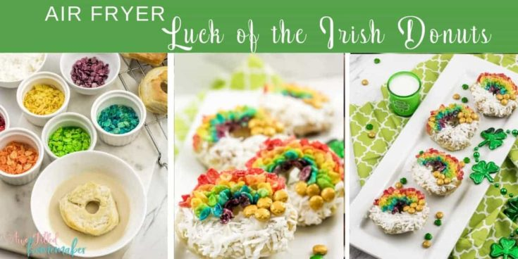 Air Fryer Luck of the Irish Donuts