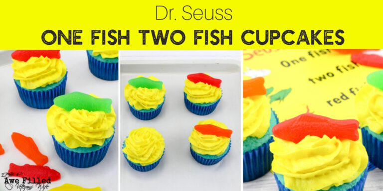 Dr Seuss One Fish Two Fish Cupcakes