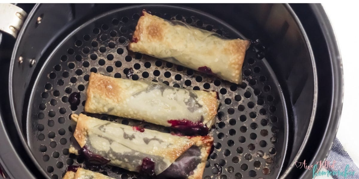 Air Fryer Blueberry Pie Egg Rolls