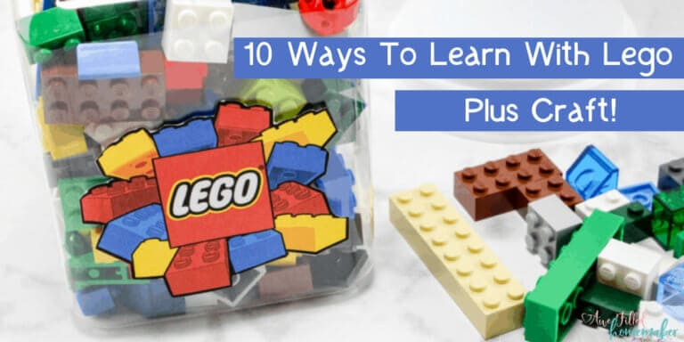 10 Ways To Learn With Lego + Craft!