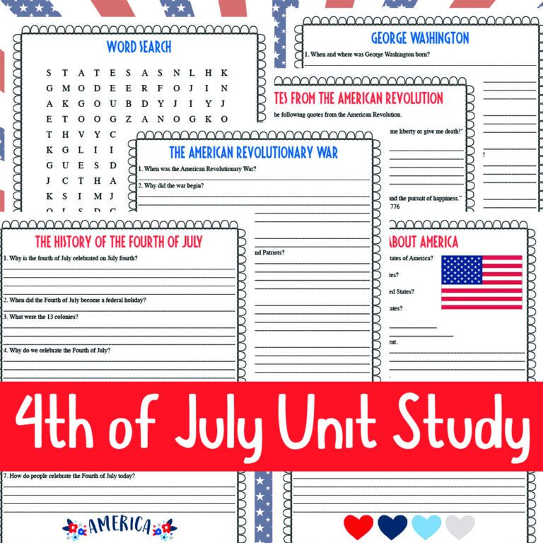 Fourth of July Unit Study