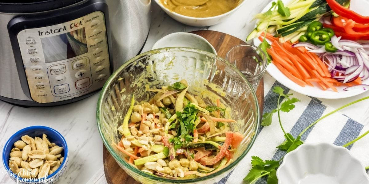 Instant Pot Thai Chickpea Salad with Curry Peanut Dressing
