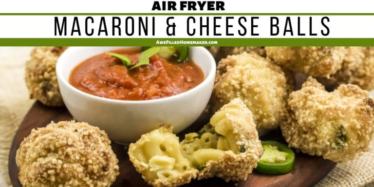 Air Fryer Macaroni and Cheese Balls