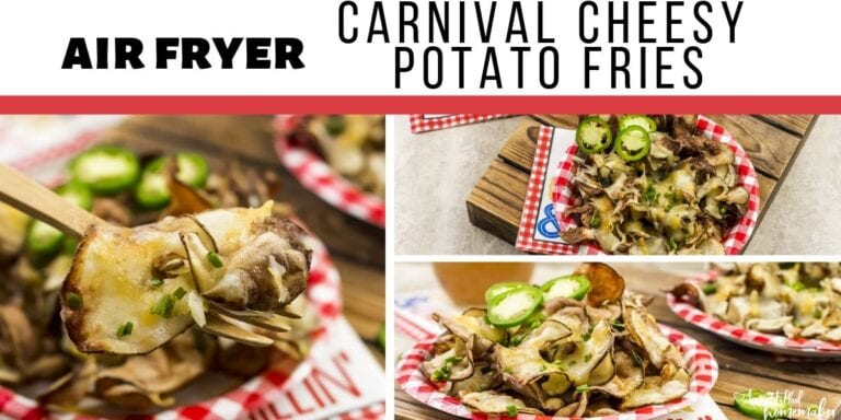 Air Fryer Carnival Cheesy Potato Fries