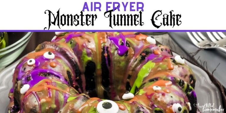 Air Fryer Monster Tunnel Cake