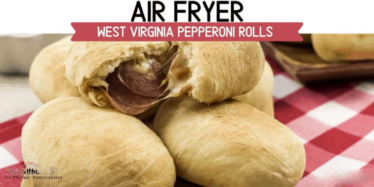 Air Fryer West Virginia Pepperoni Rolls