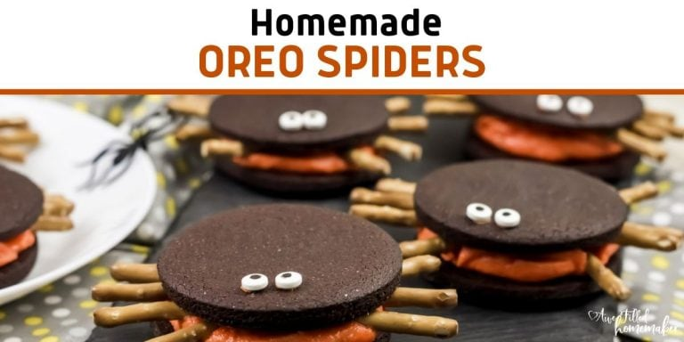 Homemade Oreo Spiders