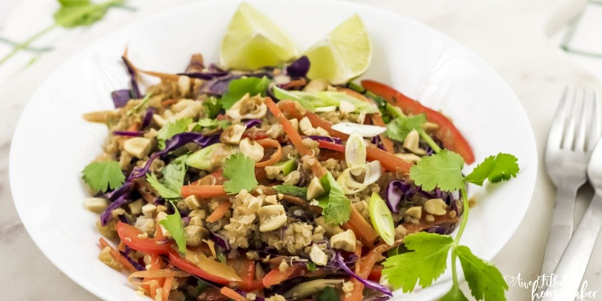 Instant Pot Thai Quinoa Salad