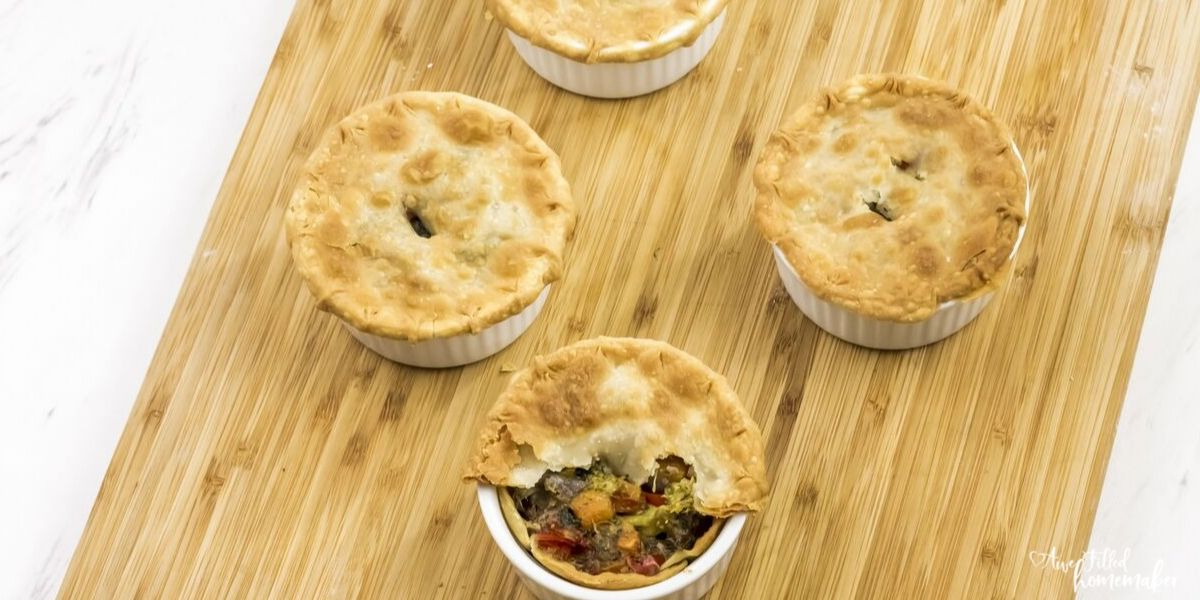 Air Fryer Rainbow Vegetable Pot Pie