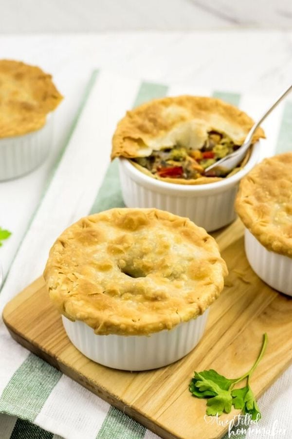 Air Fryer Vegetable Rainbow Pot Pie