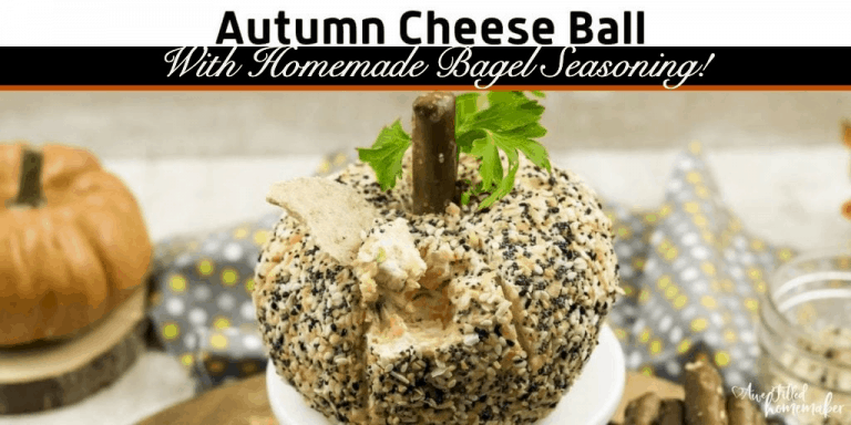 Autumn Cheese ball (With Homemade Bagel Seasoning)