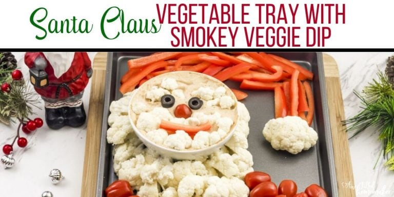 Santa Claus Vegetable Tray
