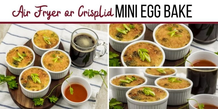 Air Fryer or Crisp Lid Mini Egg Bake