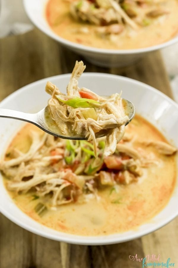 Instant Pot Buffalo Chicken Soup