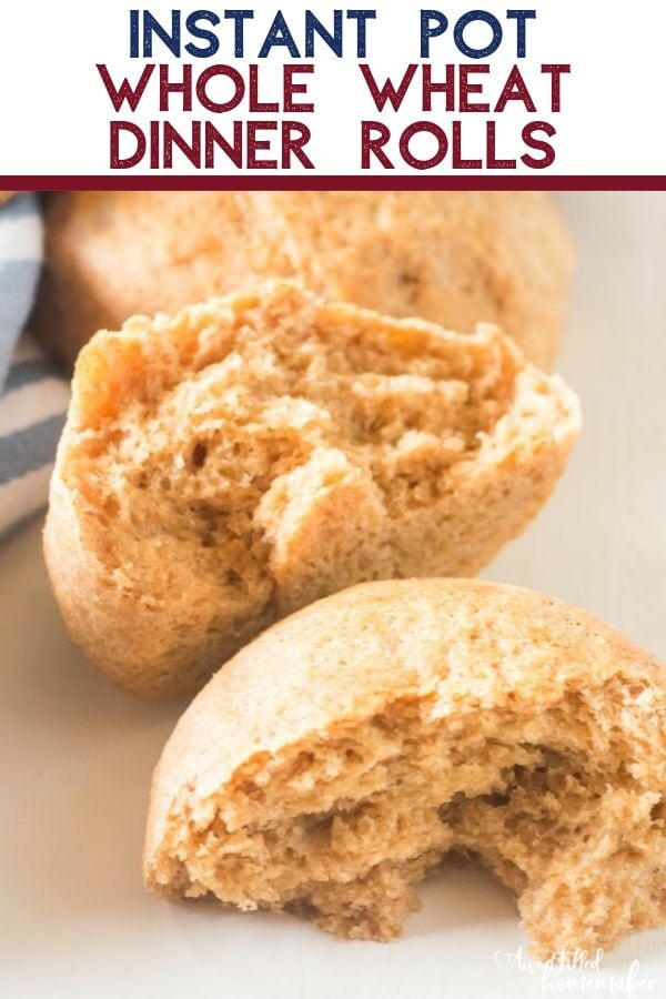 Instant Pot Whole Wheat Dinner Rolls