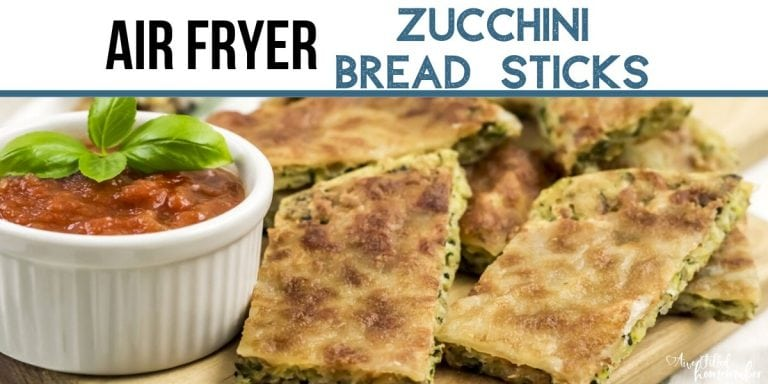 Air Fryer Zucchini Bread Sticks