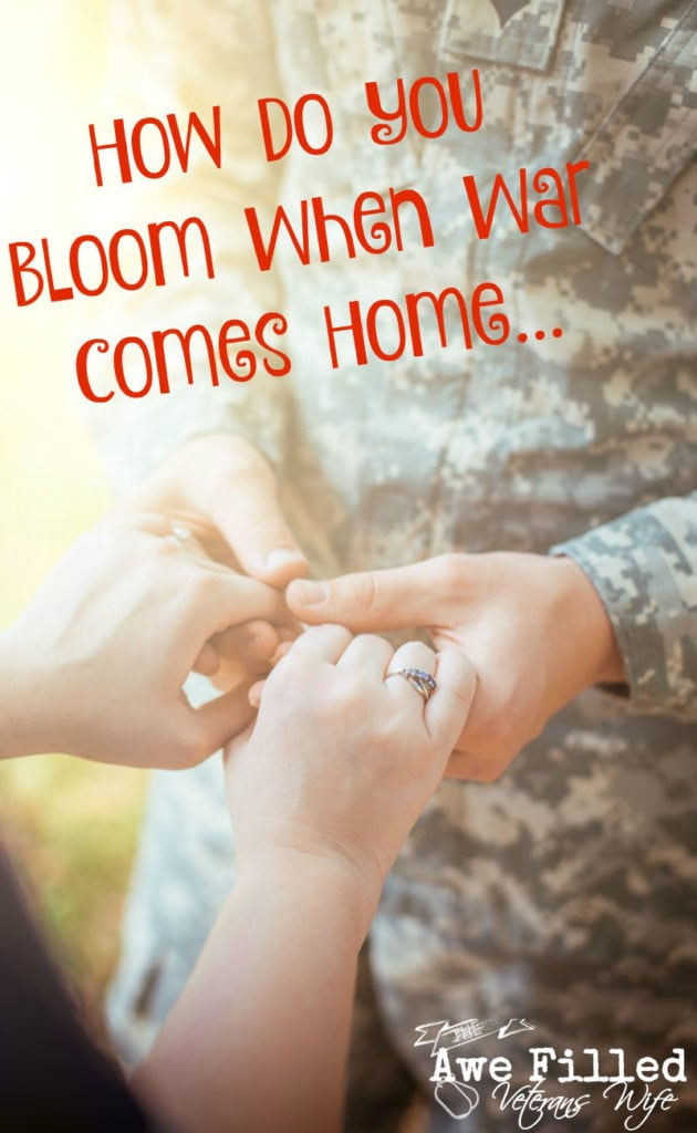 How do you Bloom when War Comes Home