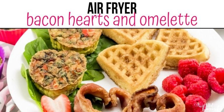 Air Fryer Bacon Hearts and Omelette