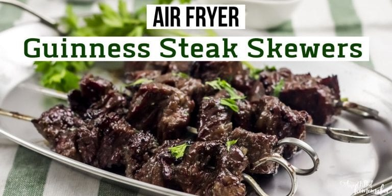Air Fryer Guinness Steak Skewers