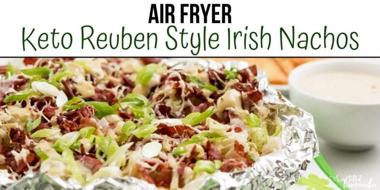 Air Fryer Keto Reuben Style Irish Nachos