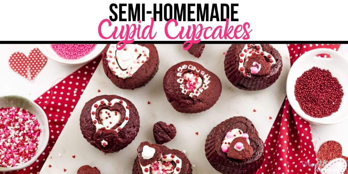 Semi-Homemade Cupid Cupcakes