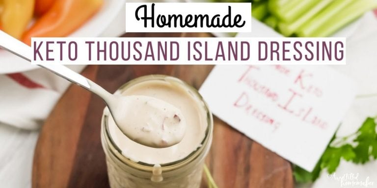 Homemade Keto Thousand Island Dressing