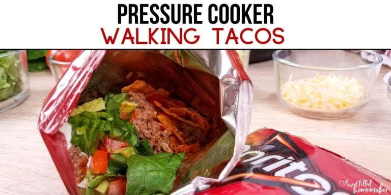 Pressure Cooker Walking Tacos