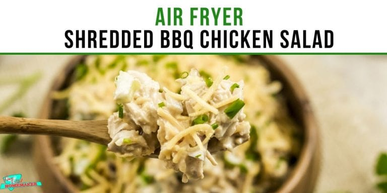 Air Fryer Shredded BBQ Chicken Salad