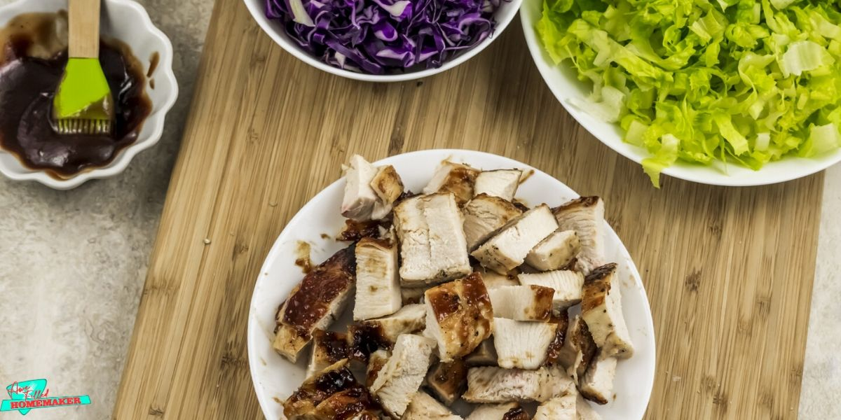 Air Fryer Tossed Barbecue Chicken Salad