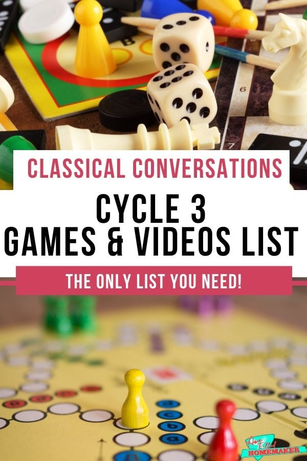 Classical Conversations: Cycle 3–Games and Videos!