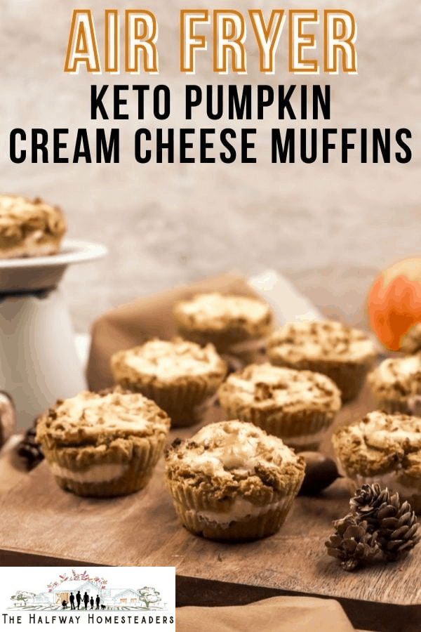 Air Fryer Keto Pumpkin Cream Cheese Muffin