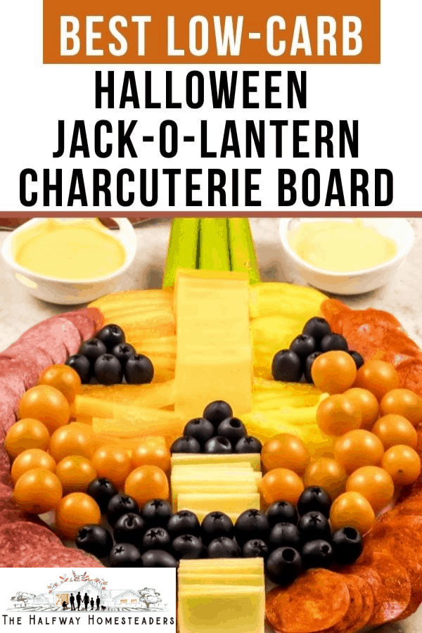 Best Low Carb Halloween Jack-o-Lantern Charcuterie Board