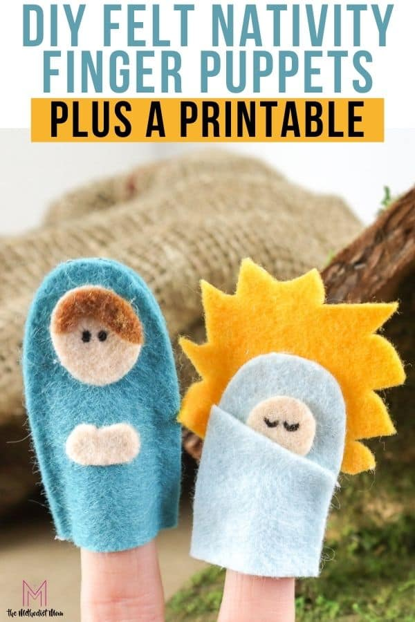 DIY Felt Nativity Finger Puppets