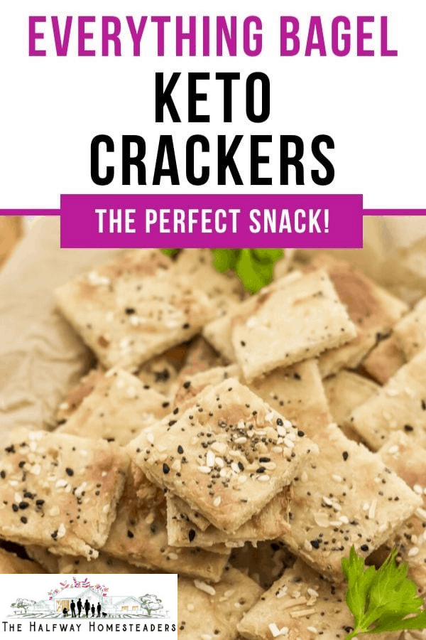 Everything Bagel Keto Crackers