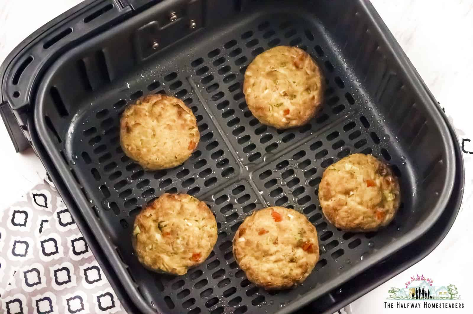 Keto salmon patties, high protein recipe baked in air fryer