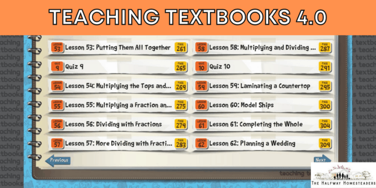Why We Love Teaching Textbooks 4.0